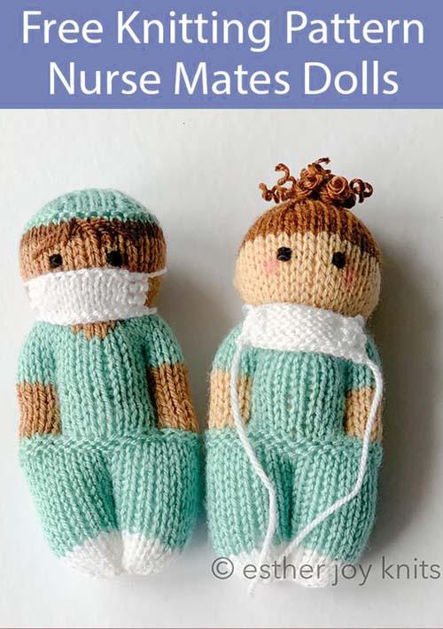 Nurse Mates Dolls - Free Knitting Pattern