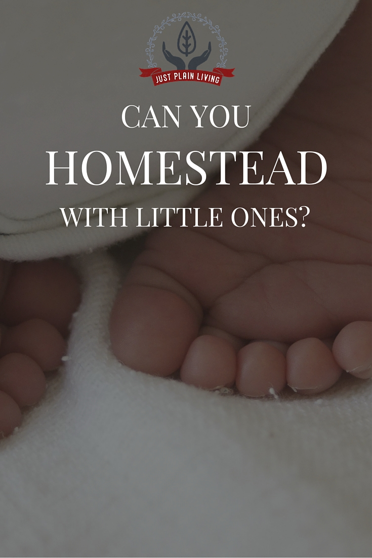 Homesteading with young children? Most homesteaders seem to have teenagers, or at least children old enough to be a help. Is it even possible to homestead when your babies are .... well, babies?