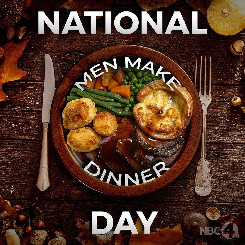 National Men Make Dinner Day Wishes