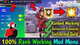 Latest Free Fire Unlimited Diamond Menu | Rank Working Menu -Garena Free Fire