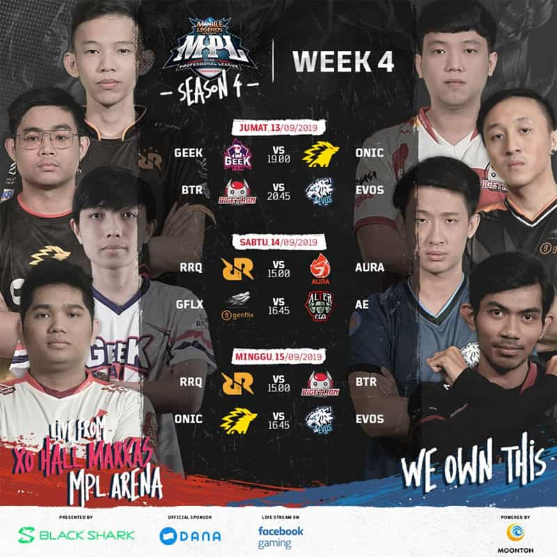 Jadwal MPL Season 4 Week 4: Duel ONIC Esports & EVOS Esports 1