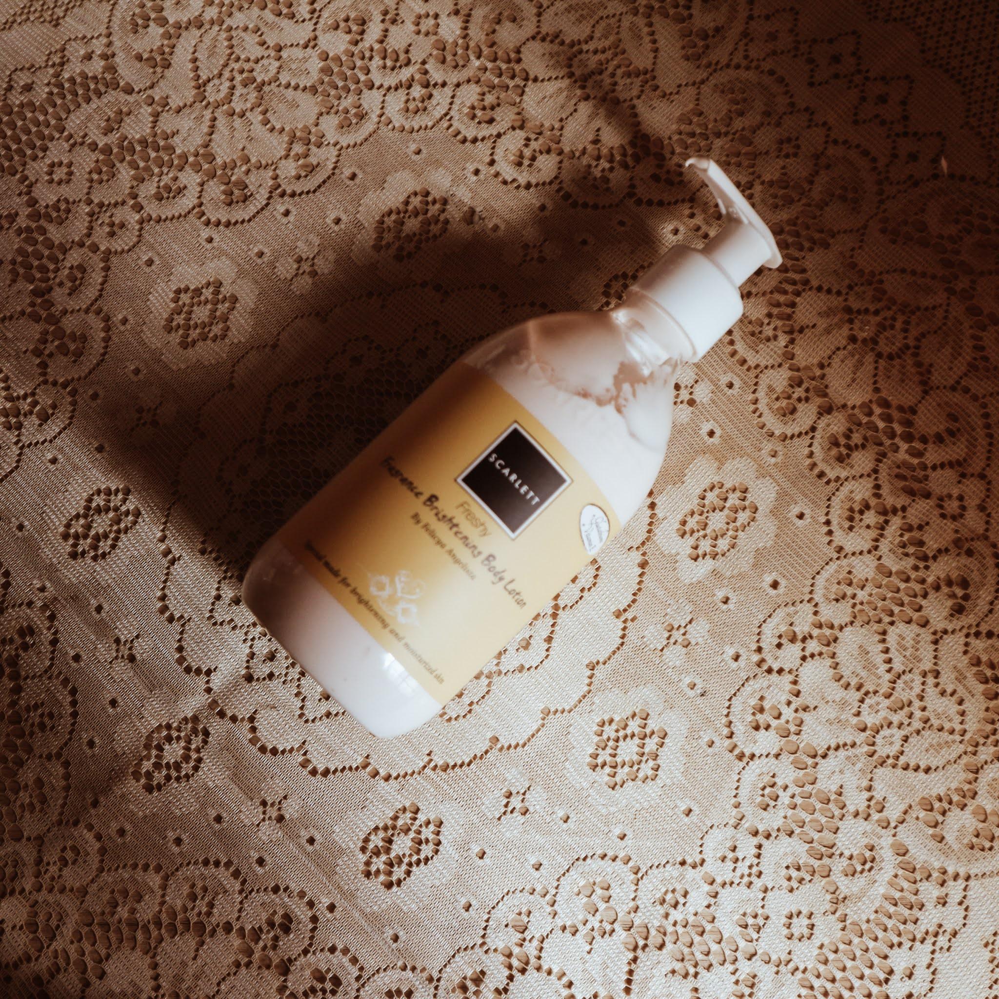 Review Freshy Scarlett Fragrance Brightening Body Lotion