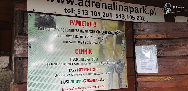 Park Linowy AdrenaLinaPark Cennik