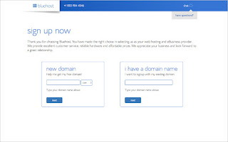 Choose a domain name from bluehost