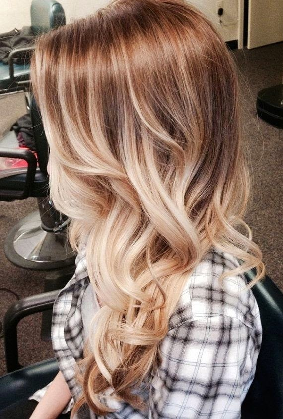 Bohemian Blonde Ombre Long Hair