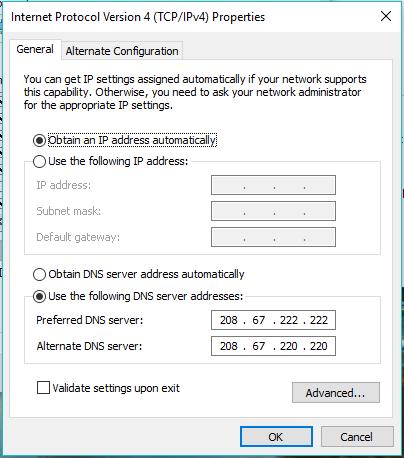 DNS Hack Mempercepat Koneksi Internet di Microsoft Windows