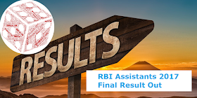 RBI Assistants 2017 Final Result Out: Download Here