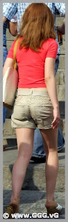 Girl in brown shorts