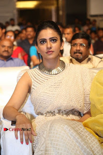 Actress Rakul Preet Singh Stills in White Dress at Winner Pre Release Function  0033.jpg