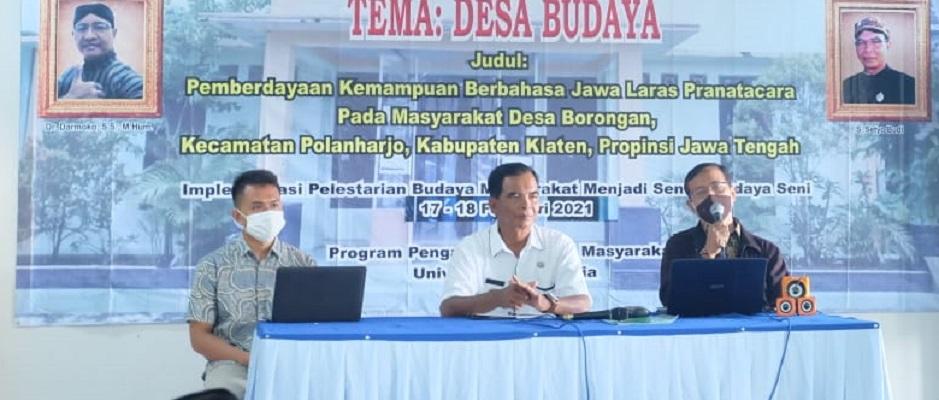 Tim Pengmas UI Berdayakan Bahasa Jawa Laras Pranatacara di Klaten