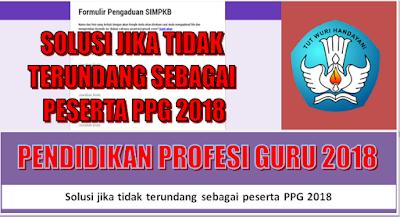 Solusi jika tidak terundang sebagai peserta PPG 2018