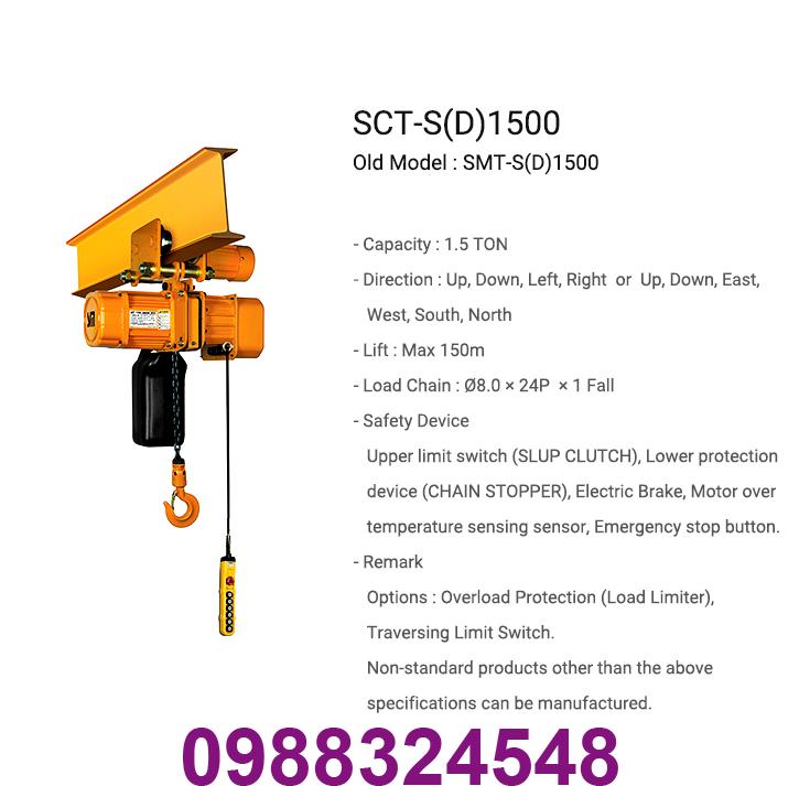 palang điện xích Samsung SCT-S1500 1.5 tấn