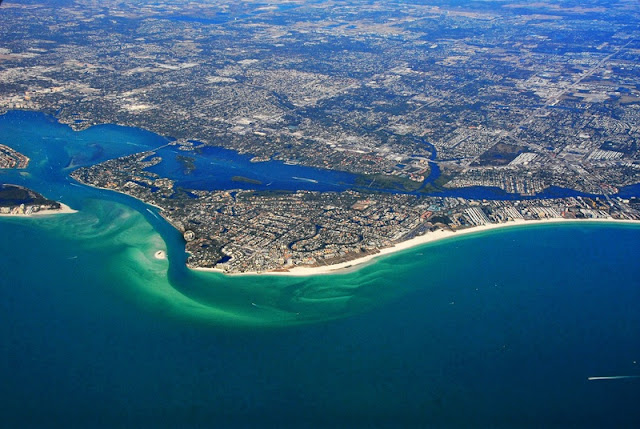 Top View Landscape of Siesta Key