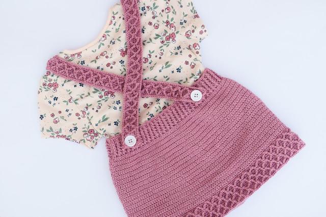 2 - Crochet Imagen Falda con tirantes a crochet y ganchillo por Majovel Crochet paso a paso facil sencillo familia batera punto alto punto bajo doble