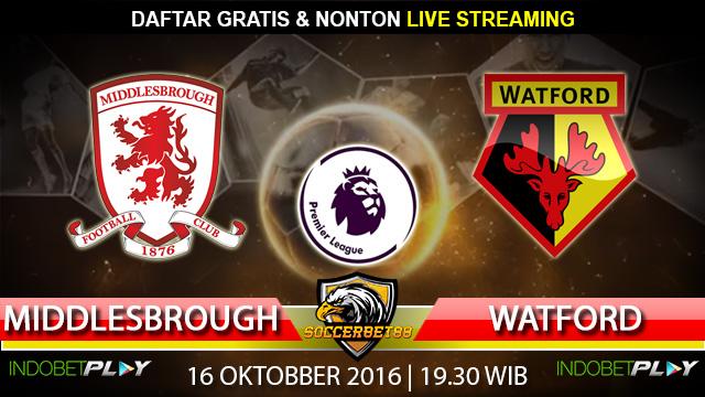 Prediksi Middlesbrough vs Watford 16 Oktober 2016 (Liga Inggris)