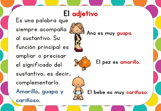 Definicion De Adjetivo Para Niños De Segundo Grado Hábitos De Niños