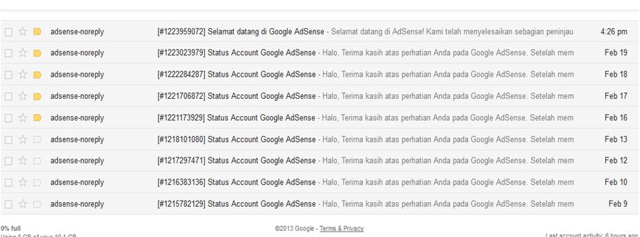 Di tolak Adsense google dukun bertindak itulah judul postingan kali ini Ditolak Adsense Google Dukun Bertindak