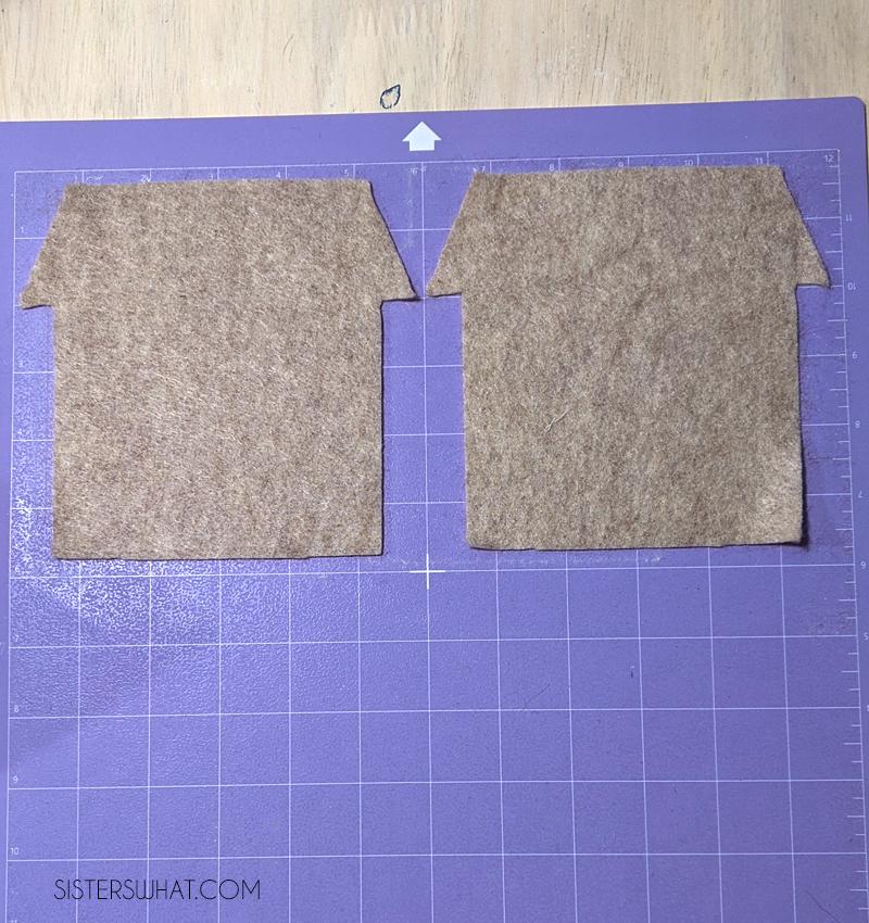 felt house patterns