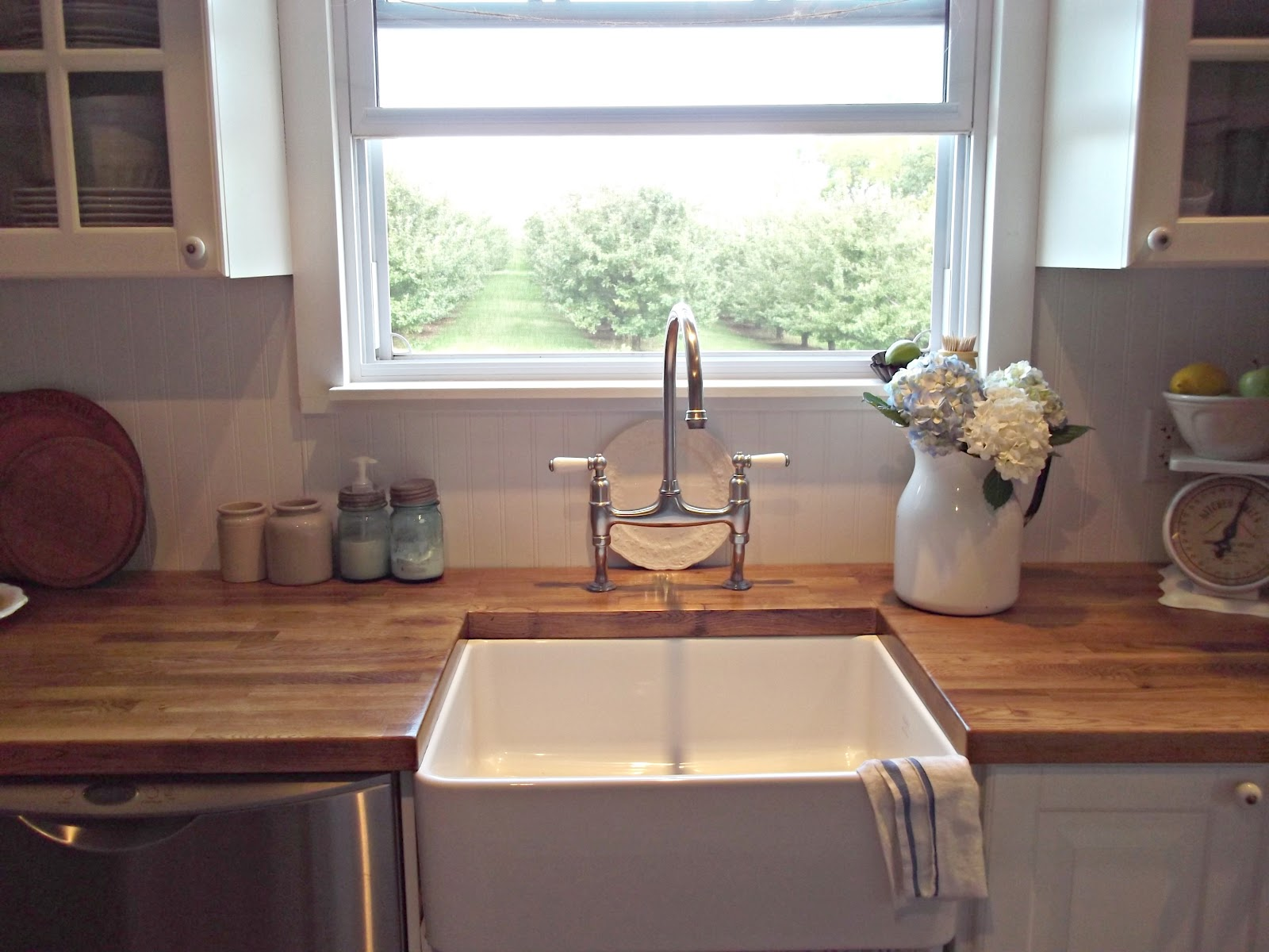 Farm Style Kitchen Prep Station Rustic Farmhouse A Sink