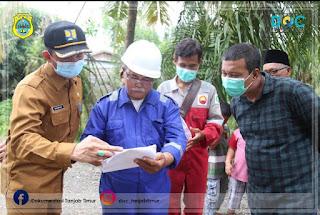 Pembangunan Jalan CSR PetroChina Ditinjau Bupati Tanjung Jabung Timur