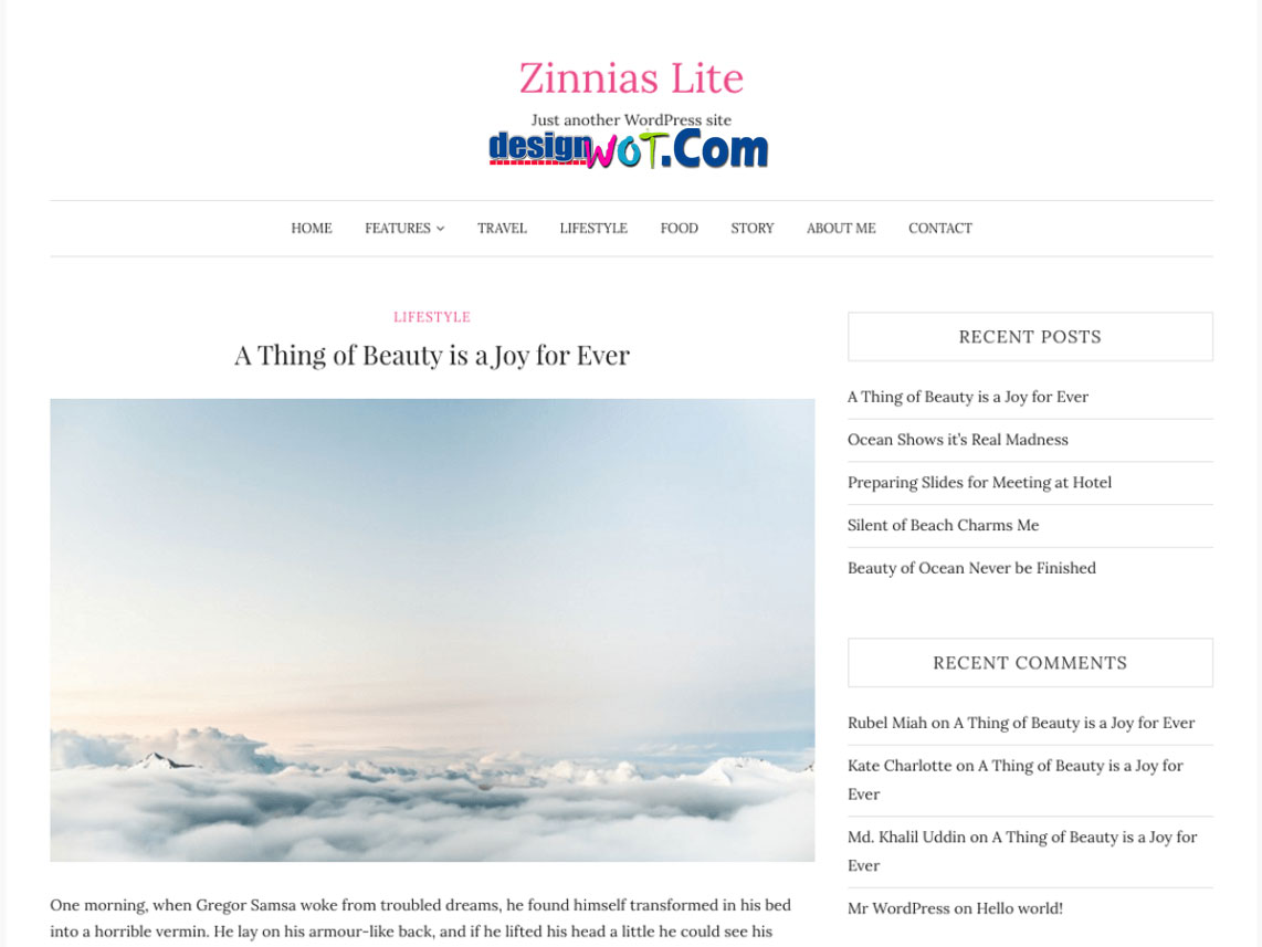 ZINNIAS LITE Responsive WordPress Theme