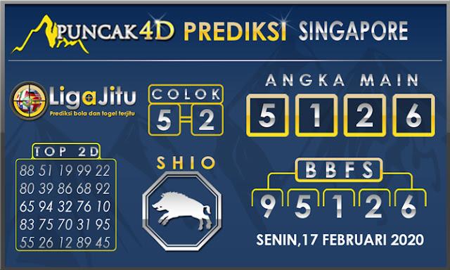 PREDIKSI TOGEL SINGAPORE PUNCAK4D 17 FEBRUARI 2020