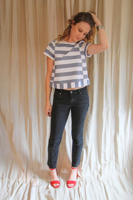 Seamwork Magazine's Hayden in Striped Chambray