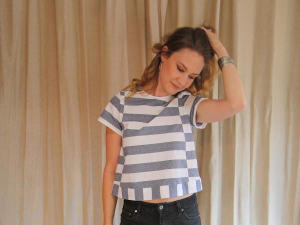 Seamwork Magazine's Hayden in Striped Chambray