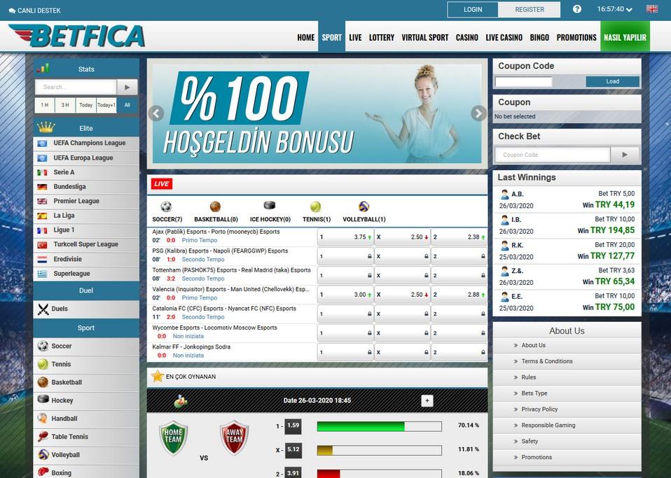 BetFica Screen