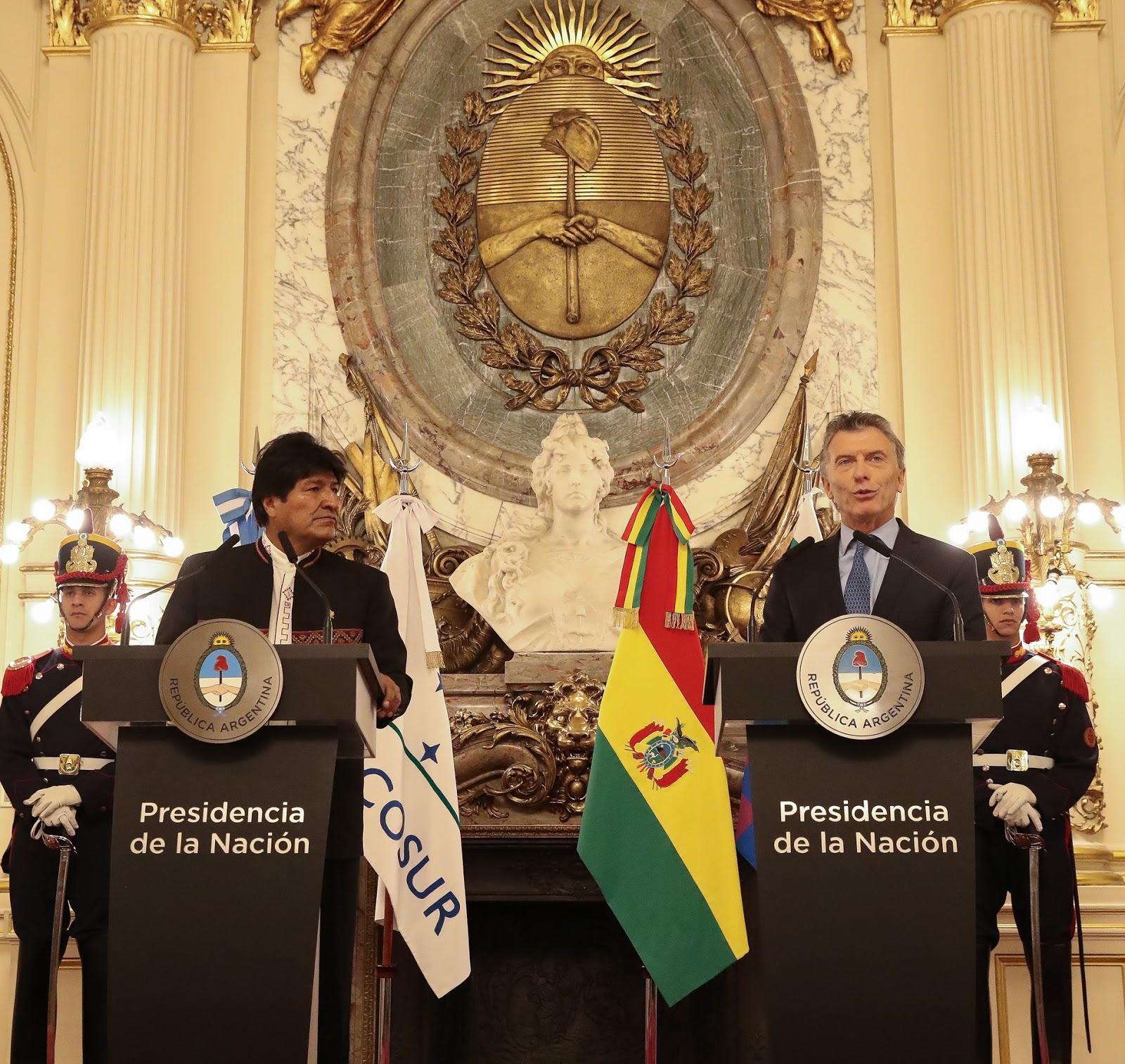 Macri se reunió con Evo Morales en la Casa de Gobierno