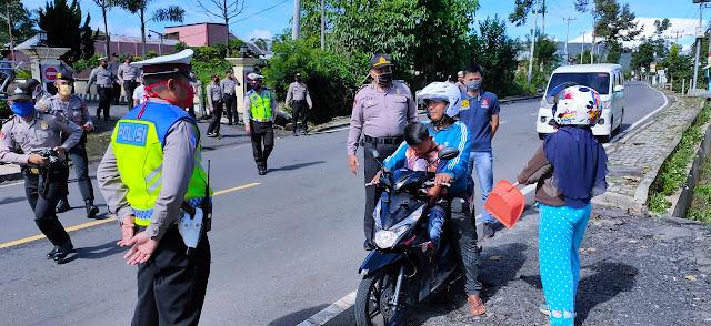Ops Ketupat Krakatau, Polres Lambar Adakan Razia Pengendara tak Pakai Masker