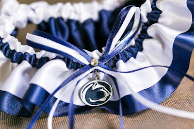 Penn State Nittany Lions Wedding Garter by Sugarplum Garters
