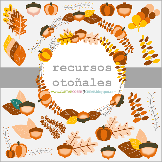 Recursos otoñales grautitos freebies cliparts