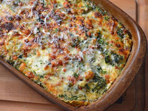 Recipe for vegetable lasagna, aka vegetarian lasagna