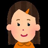 女性の顔アイコン 1