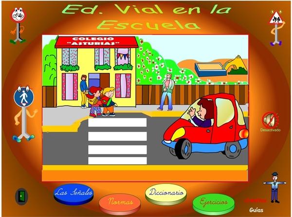 """""""Educación Vial en la Escuela"""" (Aplicación interactiva de Ciencias Sociales de Primaria)"""
