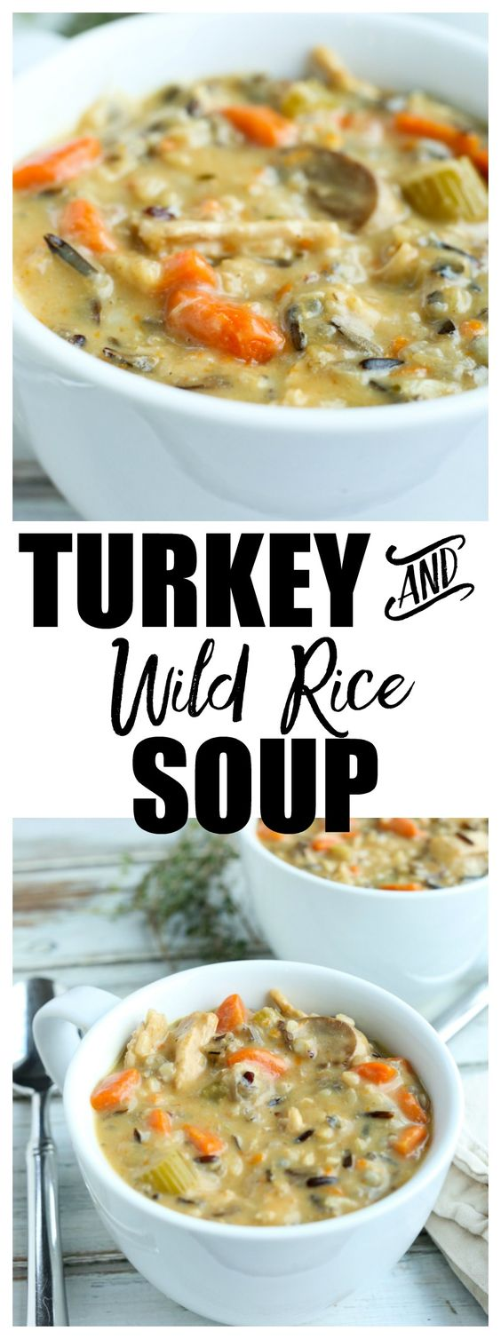 leftover turkey and wild rice soup #SOUP #MAINCOURSE