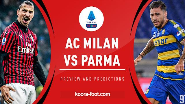 مباراة ميلان وبارما بث مباشر الدوري الإيطالي