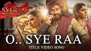 Sye Raa Lyrics - Sunidhi Chauhan, Shreya Ghoshal