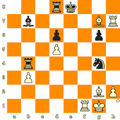 Les Blancs jouent et matent en 3 coups - Jan-Hein Donner vs Bent Larsen, Wageningen, 1957