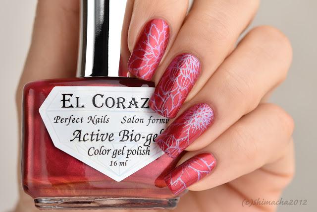 """El Corazon: No.423/626 """"Strawberry Margarita"""" / Nail Stamping, スタンピングネイル"""
