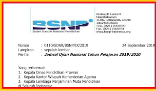 surat edaran bsnp
