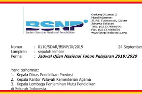 Resmi Di Tetapkan Jadwal UN Dan UNBK Untuk SMP/MTs, SMA/MA, SMK/MAK Tahun Pelajaran 2019-2020