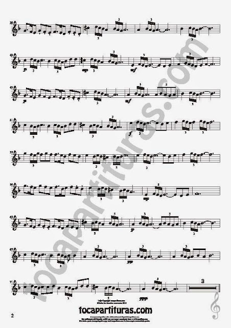 2  Bulería Lenta Partitura de Flauta Travesera, flauta dulce y flauta de pico Sheet Music for Flute and Recorder Music Scores Flamenco