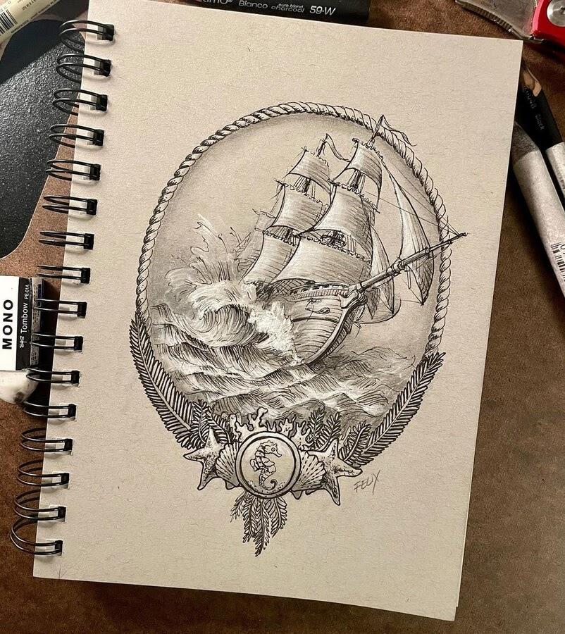 07-Sailboat-in-the-ocean-Leandro-Felix-www-designstack-co