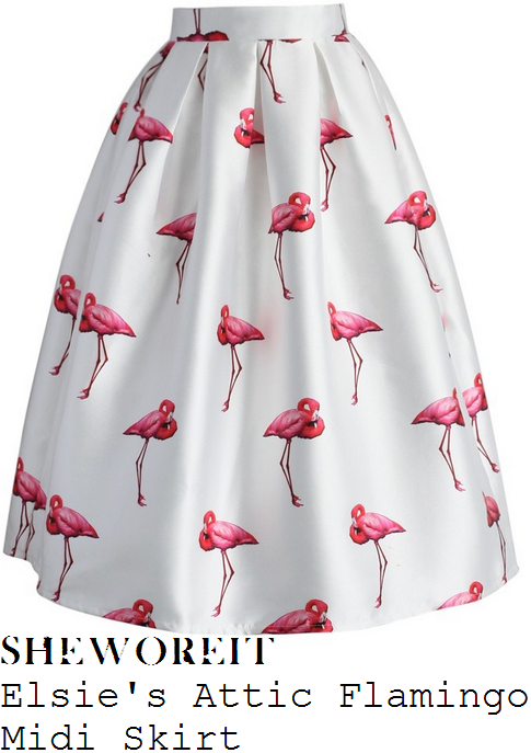 lorraine-kelly-elsies-attic-bright-white-and-coral-pink-flamingo-print-high-waisted-full-midi-skirt