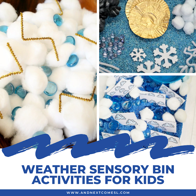 Weather sensory activities for toddlers and preschoolers