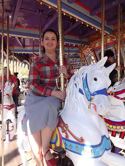 Disneyland Pendleton Dapper Day Carousel 1950s