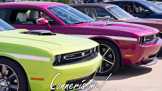 Dodge Challengers Lime Green Furious Fuchsia