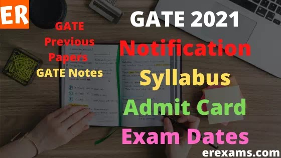 GATE Exam 2021, Notification, Syllabus, Admit Card, Exam Dates, Eligibility, Papers, Notes